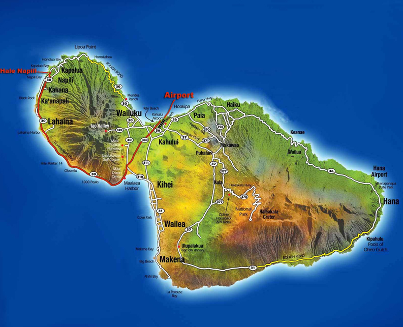 Lahaina Map Getting Here Hale Napili