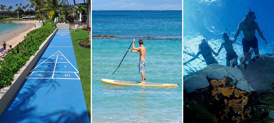 Shuffleboard, Stand-Up Paddle Boarding & Snorkeling